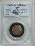 1857 California Gold Rush Nuggets, S.S. Central America PCGS. 1.5 Grams