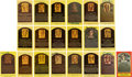 Baseball Collectibles:Others, Baseball Greats Hall of Fame Signed Plaque Postcards Lot o...