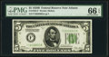Small Size:Federal Reserve Notes, Fr. 1952-F $5 1928B Federal Reserve Note. PMG Gem Uncirculated 66 EPQ.. ...