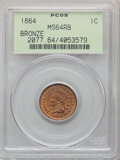 1864 1C Bronze No L MS64 Red and Brown PCGS. PCGS Population: (484/321). NGC Census: (211/310). CDN: $285 Whsle. Bid for...