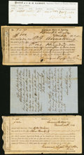 Confederate Notes:Group Lots, Two Tennessee 1864 IDRs and More Tennessee CSA Documents.. Bristol $500 Tremmel TN-UNL VG-Fine;. Greenville $300 Tremm... (Total: 4 items)