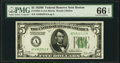 Small Size:Federal Reserve Notes, Fr. 1952-A $5 1928B Federal Reserve Note. PMG Gem Uncirculated 66 EPQ.. ...