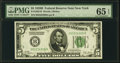 Small Size:Federal Reserve Notes, Fr. 1952-B $5 1928B Federal Reserve Note. PMG Gem Uncirculated 65 EPQ.. ...