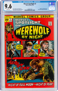 Marvel Spotlight #2 Werewolf by Night (Marvel, 1972) CGC NM+ 9.6 White pages