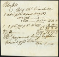 Colonial Notes:Connecticut, Oversized Handwritten Peter Colt Payment Certificate May 1789 Extremely Fine.. ...