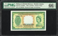 Malaya and British Borneo Board of Commissioners of Currency 5 Dollars 21.3.1953 Pick 2a KNB2a PMG Gem Uncirculated 66 E...
