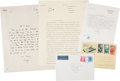 Autographs:Authors, W. H. Auden Autograph Letter Signed and Typed Letters Signed....