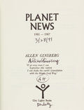Books:Signed Editions, Allen Ginsberg Signed Poetry Book Planet News....