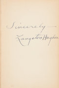 Books:Signed Editions, Langston Hughes Signed Copy of Montage of a dream deferred....
