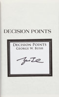 Books:Signed Editions, George W. Bush Signed Copy of Decision Points....
