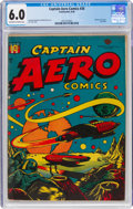 Golden Age (1938-1955):Science Fiction, Captain Aero Comics #26 (Continental, 1946) CGC FN 6.0 Off-white to white pages....