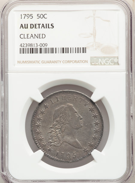 1795 50C 2 Leaves, MS 50 Details NGC