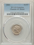 Three Cent Nickels: , 1885 3CN -- Cleaning -- PCGS Genuine. AU Details. Mintage 1,000. ...