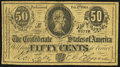 Confederate Notes:1864 Issues, Facsimile T72 50 Cents 1864 Advertising Note Fine.. ...