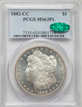 1882-CC $1 MS63 Prooflike PCGS. CAC. PCGS Population: (858/1459). NGC Census: (442/698). CDN: $260 Whsle. Bid for NGC/PC...