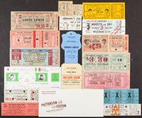 1913-1972 Miscellaneous Boxing Tickets & Stubs