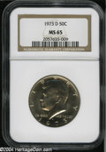 Kennedy Half Dollars: , 1973-D MS65 NGC. ...