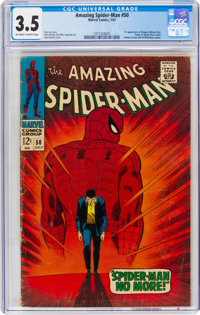 The Amazing Spider-Man #50 (Marvel, 1967) CGC VG- 3.5 Off-white to white pages