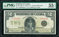 World Currency, Canada Dominion of Canada $2 23.6.1923 Pick 34j DC-26j PMG About Uncirculated 55 EPQ.. ...