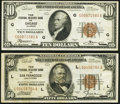 Fr. 1860-G $10 1929 Federal Reserve Bank Note. Very Fine-Extremely Fine; Fr. 1880-L $50 1929 Federal Reserve Ba