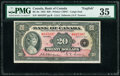World Currency, Canada Bank of Canada $20 1935 Pick 46a BC-9a Large Seal PMG Choice Very Fine 35.. ...