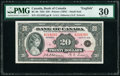 World Currency, Canada Bank of Canada $20 1935 Pick 46b BC-9b Small Seal PMG Very Fine 30.. ...