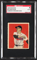 Autographs:Sports Cards, Signed 1949 Bowman Bob Feller #27 SGC Authentic. ...