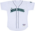 Baseball Collectibles:Uniforms, 2000 Alex Rodriguez Game Worn & Signed Seattle Mariners Jersey, MEARS A10....