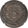 Azores, Azores: Portuguese Colony Counterstamped 1200 Reis ND (1887) MS61 NGC,...