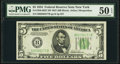 Small Size:Federal Reserve Notes, Fr. 1956-B $5 1934 Federal Reserve Note with Back Plate 637. PMG About Uncirculated 50 EPQ.. ...