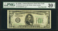 Small Size:Federal Reserve Notes, Fr. 1959-B $5 1934C Narrow Federal Reserve Note with Face Plate 301. PMG Very Fine 30 EPQ.. ...