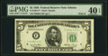 Small Size:Federal Reserve Notes, Fr. 1961-F* $5 1950 Wide II Federal Reserve Note. PMG Extremely Fine 40 EPQ.. ...