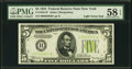 Small Size:Federal Reserve Notes, Fr. 1955-B* $5 1934 Light Green Seal Federal Reserve Note. PMG Choice About Unc 58 EPQ.. ...