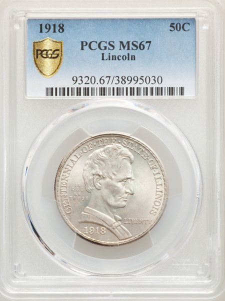 1918 50C Lincoln, MS PCGS Secure 67 PCGS