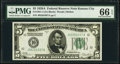 Small Size:Federal Reserve Notes, Fr. 1951-J $5 1928A Federal Reserve Note. PMG Gem Uncirculated 66 EPQ.. ...