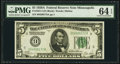 Fr. 1951-I $5 1928A Federal Reserve Note. PMG Choice Uncirculated 64 EPQ