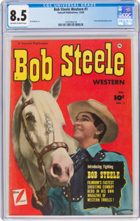 Bob Steele Western #1 (Fawcett Publications, 1950) CGC VF+ 8.5 Off-white to white pages