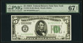 Small Size:Federal Reserve Notes, Fr. 1951-B $5 1928A Federal Reserve Note. PMG Superb Gem Unc 67 EPQ.. ...