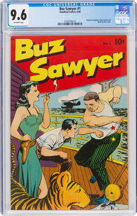 Buz Sawyer #1 (Standard, 1948) CGC NM+ 9.6 Off-white pages