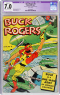 Golden Age (1938-1955):Adventure, Buck Rogers #4 (Eastern Color, 1942) CGC Apparent FN/VF 7.0 Slight (B-1) Cream to off-white pages....