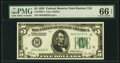 Fr. 1950-J $5 1928 Federal Reserve Note. PMG Gem Uncirculated 66 EPQ