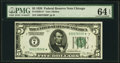 Small Size:Federal Reserve Notes, Fr. 1950-G* $5 1928 Federal Reserve Note. PMG Choice Uncirculated 64 EPQ.. ...