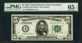 Low Serial Number 325 Fr. 1950-D $5 1928 Federal Reserve Note. PMG Gem Uncirculated 65 EPQ