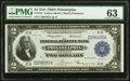 Large Size:Federal Reserve Bank Notes, Fr. 753 $2 1918 Federal Reserve Bank Note PMG Choice Uncirculated 63.. ...