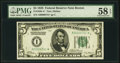 Low Serial Number 741 Fr. 1950-A* $5 1928 Federal Reserve Note. PMG Choice About Unc 58 EPQ