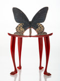 Decorative Accessories, Pedro Friedeberg (Italian/Mexican, b. 1937). Miniature Butterfly Chair, circa 1970. Painted wood, paper overlay. 11-1/8 ...