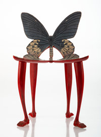 Pedro Friedeberg (Italian/Mexican, b. 1937) Miniature Butterfly Chair, circa 1970 Painted wood, pape