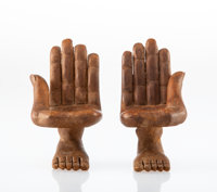 Pedro Friedeberg (Italian/Mexican, b. 1937) Pair of Miniature Hand Chairs, designed 1965 Wood 8-1