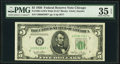 Small Size:Federal Reserve Notes, Fr. 1961-G* $5 1950 Wide II Federal Reserve Note. PMG Choice Very Fine 35 EPQ.. ...