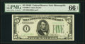 Fr. 1960-I $5 1934D Federal Reserve Note. PMG Gem Uncirculated 66 EPQ